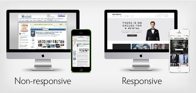 Non-responsive website